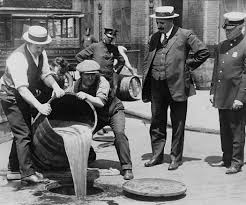 historic photo dumping wine