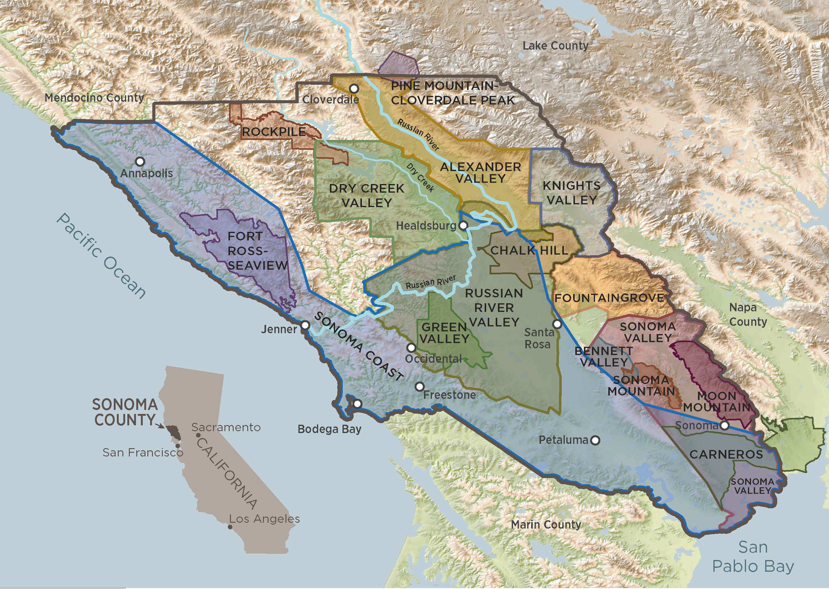 Sonoma County Regional Map