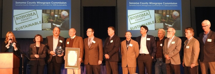 Sonoma County Winegrowers Win Governor's Environmental and Economic Leadership Award group photo